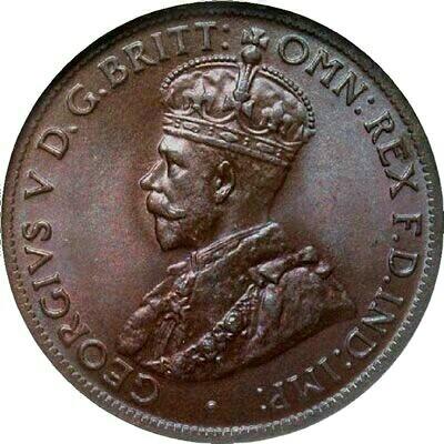 Soft rim of a 1922 half penny