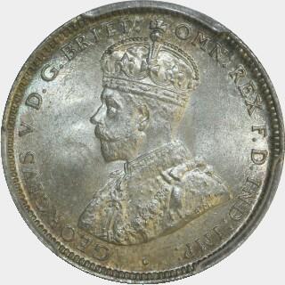 1911  Shilling obverse