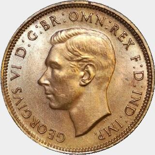 1939  Half Penny obverse