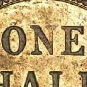 Soft N of ONE on the reverse of a 1934 half penny