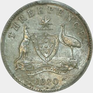 1920-M  Threepence reverse