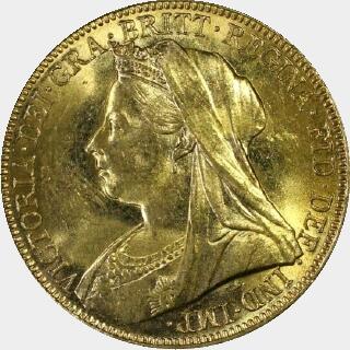 1898-M  Full Sovereign obverse