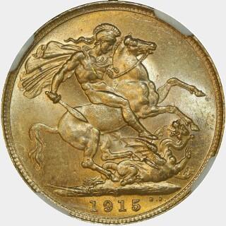 1915-S  Full Sovereign reverse