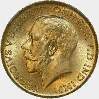1915-S  Full Sovereign obverse