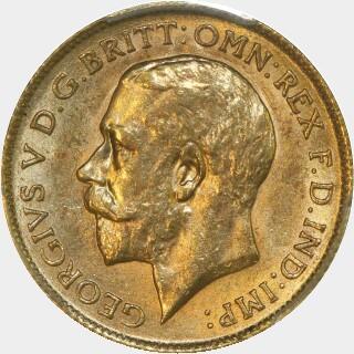 1911-P  Half Sovereign obverse