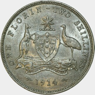 1914  Florin reverse