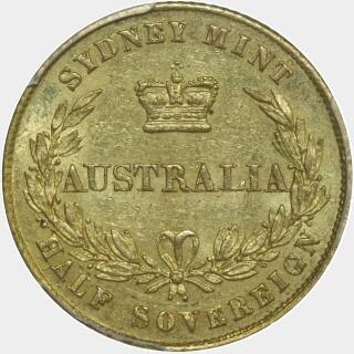 1860  Half Sovereign reverse