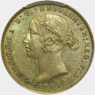 1860  Half Sovereign obverse