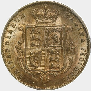 1887-M  Half Sovereign reverse