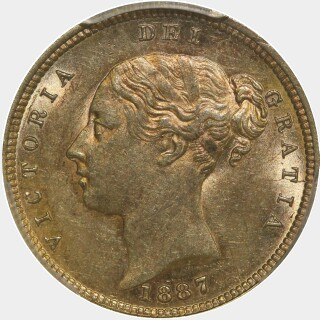 1887-M  Half Sovereign obverse