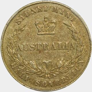 1855  Half Sovereign reverse