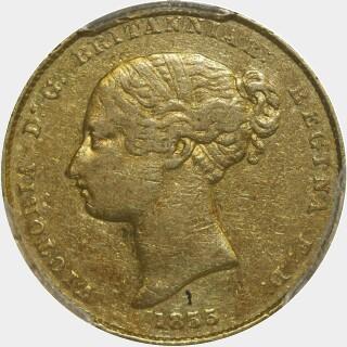 1855  Half Sovereign obverse