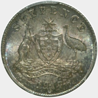 1917-M  Sixpence reverse