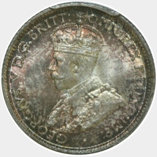 1917-M  Sixpence obverse