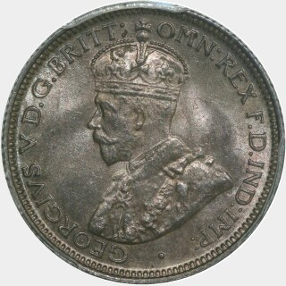 1911  Sixpence obverse