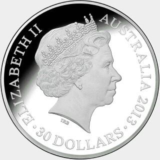 2013  Thirty Dollar obverse