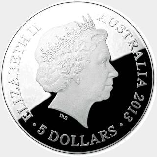 2013 Proof Five Dollar obverse