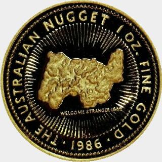 1987-P Gold One Hundred Dollar reverse