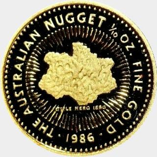 1988-P Gold Fifteen Dollar reverse