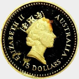 1988-P Gold Fifteen Dollar obverse