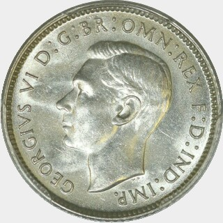 1944-S  Sixpence obverse