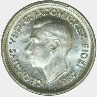 1950  Sixpence obverse