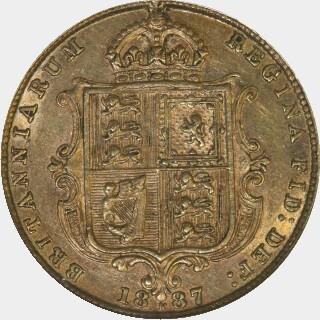 1887-M Medium JEB Half Sovereign reverse