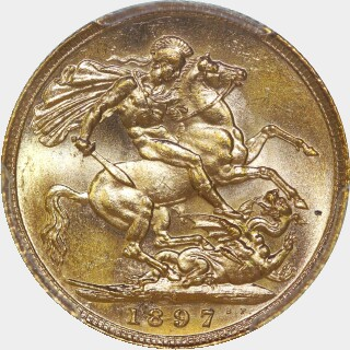 1897-S  Full Sovereign reverse