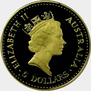 1989-P Proof Gold Five Dollar obverse