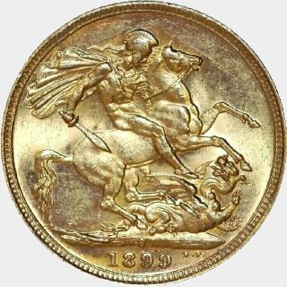 1899-S  Full Sovereign reverse