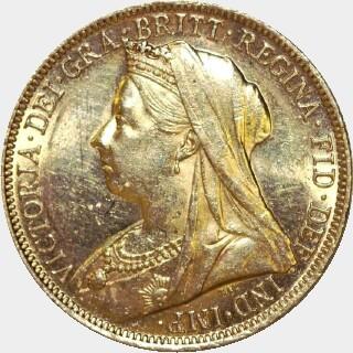 1899-S  Full Sovereign obverse