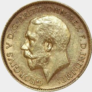 1911-S  Half Sovereign obverse