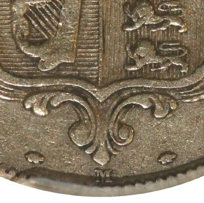 M mintmark indicates Melbourne mint