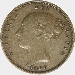 1886-M  Half Sovereign obverse
