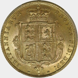 1883-S Beaded Reverse Half Sovereign reverse