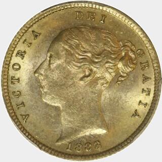 1883-S Beaded Reverse Half Sovereign obverse