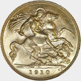 1910-S  Half Sovereign reverse