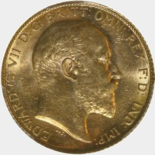 1910-S  Half Sovereign obverse