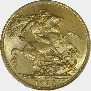 1918-S  Full Sovereign reverse