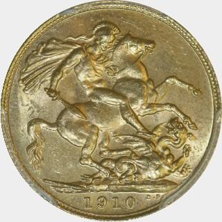1910-S  Full Sovereign reverse