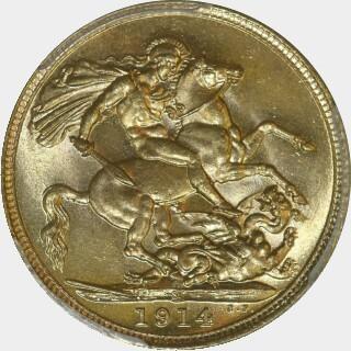 1914-S  Full Sovereign reverse