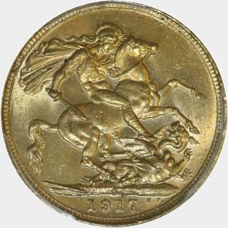 1917-S  Full Sovereign reverse