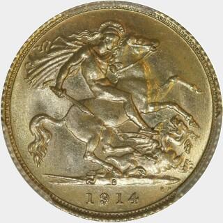 1914-S  Half Sovereign reverse