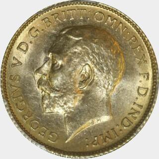 1914-S  Half Sovereign obverse