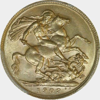 1909-P  Full Sovereign reverse