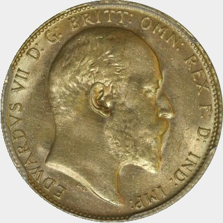 1909-P  Full Sovereign obverse