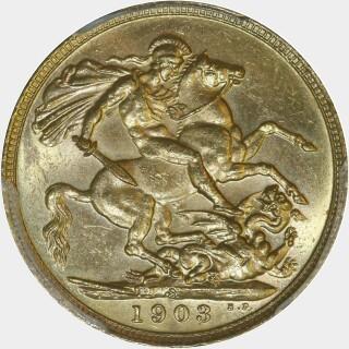 1903-S  Full Sovereign reverse