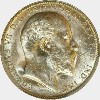 1908-P  Full Sovereign obverse