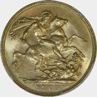 1901-P  Full Sovereign reverse