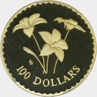 2003 Proof One Hundred Dollar reverse